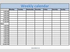 Printable Monthly Calendar With Time Slots 2018 Monthly
