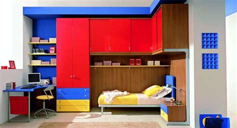 Shining Red And Blue Kids Room Design-interior Design Ideas