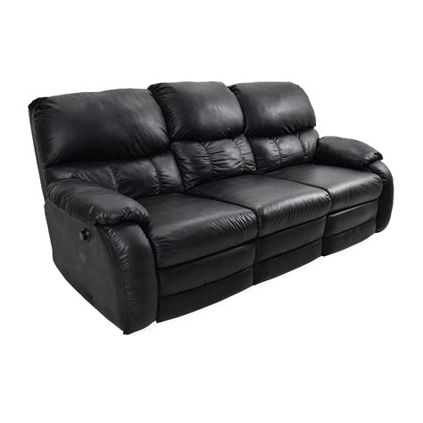 black leather reclining sofa black leather recliner fantastic black leather