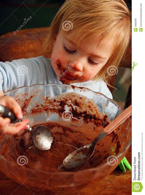 child chocolate cake royalty  stock images image