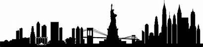 Skyline York Transparent Silhouette Nyc Citi Broadway
