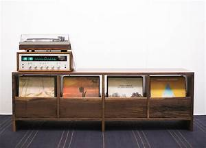 Meuble Pour Vinyle : meuble vinyle 35 id es design et pratiques pour votre collection ~ Teatrodelosmanantiales.com Idées de Décoration