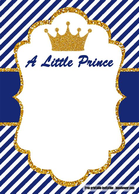 FREE Prince Baby Shower invitations Templates FREE