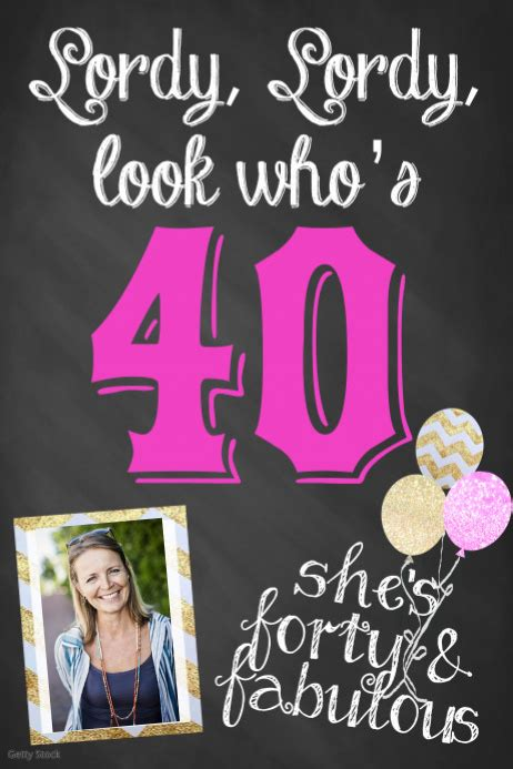 forty birthday poster template party event flyer