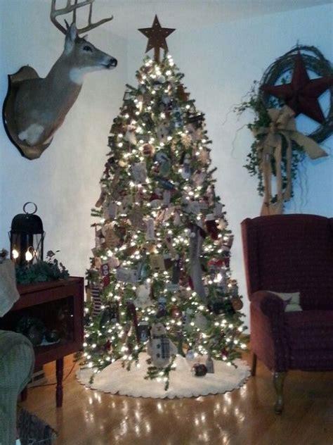 beautiful primitive christmas tree decorations ideas