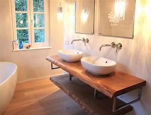 Waschbecken Mit Holzplatte : 1000 ideen zu waschtischplatte auf pinterest ~ Michelbontemps.com Haus und Dekorationen