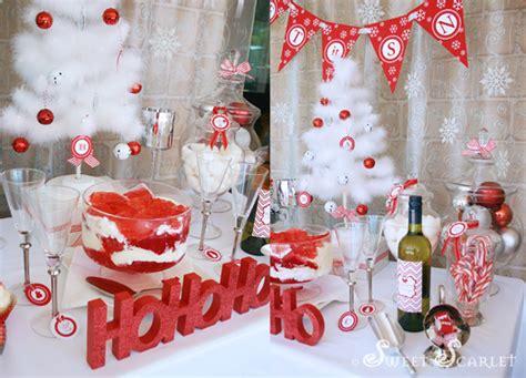 karas party ideas   snow christmas party karas