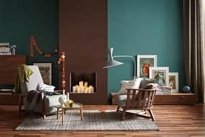 Farben Und Wohnen : die wandfarben petrol und braun in einem raum bild 10 sch ner wohnen ~ Markanthonyermac.com Haus und Dekorationen