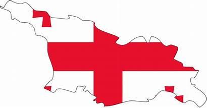 Georgia Flag Map Clip Vector