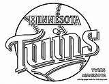 Coloring Pages Twins Minnesota Baseball Vikings Printable Mn Getcolorings Sheets sketch template