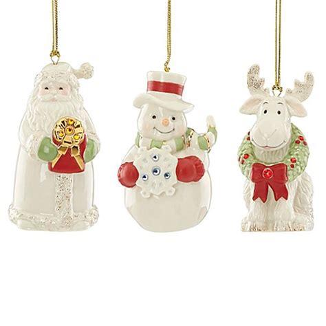 lenox 174 gemmed christmas ornaments set of 3 bed bath