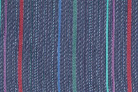 Denim Upholstery Fabric by Woven Stripe Upholstery Fabric In Denim Multi