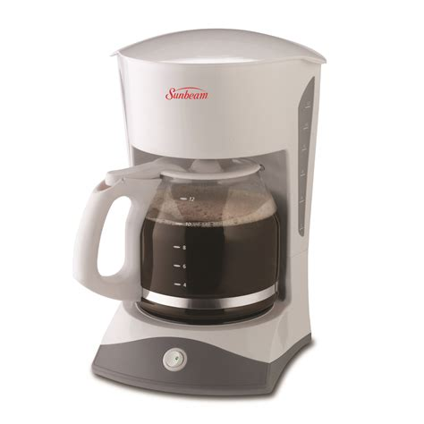 3.4 out of 5 stars with 164 reviews. Sunbeam® 12-Cup Switch Coffeemaker, White 6971-033 ...