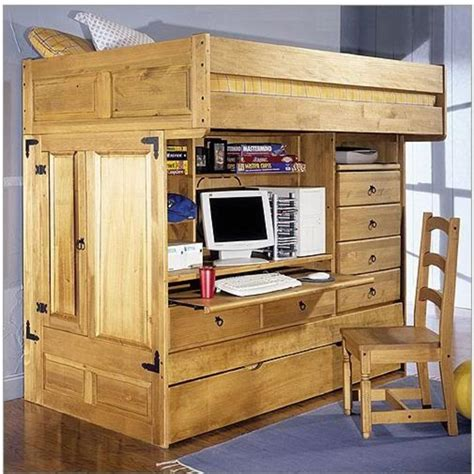 childrens loft bed with desk rustic bunk beds for design bookmark 15270