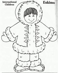 Free coloring pages of eskimos