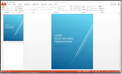 powerpoint template size letter sized presentation change the size of your powerpoint slides office 2007 2010 2013