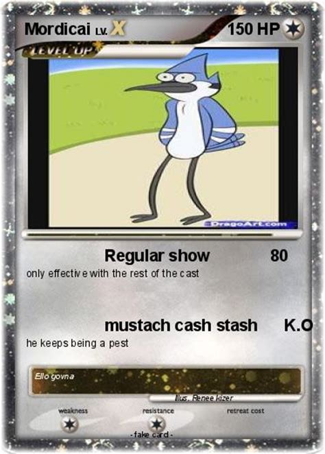 Pokémon Mordicai 1 1 Regular Show My Pokemon Card