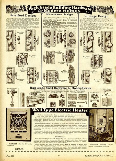 daily bungalow  sears catalog building hardware