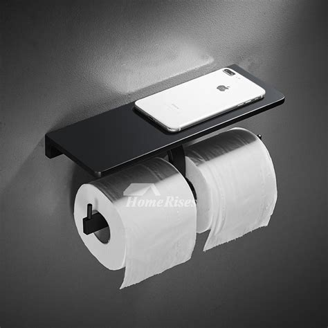 black toilet paper holder doublesingle wall mount unique