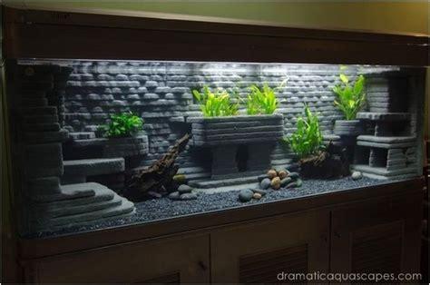 Dramatic Aquascapes by Diy Aquarium Background Ideas 1000 Aquarium Ideas