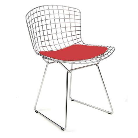 galette pour chaise bertoia chaise bertoia chromée avec galette d 39 assise en tissu