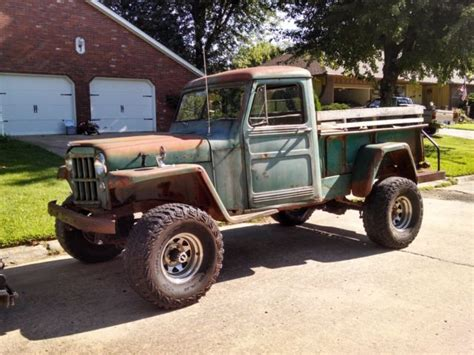 willys jeep truck green 1960 willys jeep truck 4x4 body and frame sit on yukon 2k