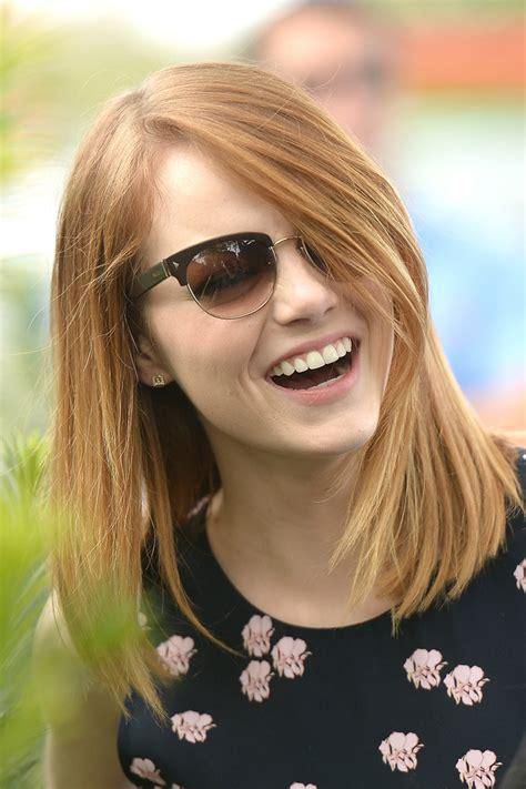 Emma Stone Mid Length Bob Emma Stone Looks Stylebistro