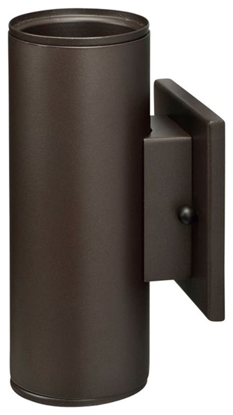 led outdoor cylinder wall mount bronze up light