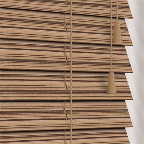 exotic zebra wooden blinds luxury  mm light blonde