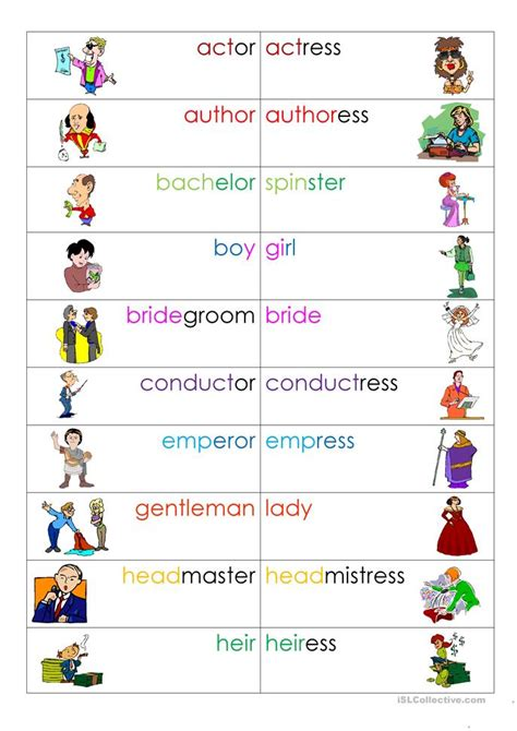 nouns gender worksheet free esl printable worksheets
