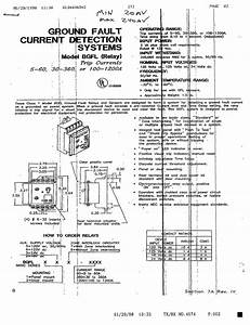 Ground Fault Current Detection Systems Model Bgfl  Relay  Manual - General Electric