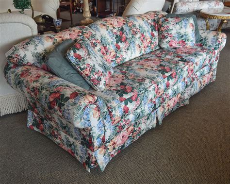 barclay floral sofa  england home furniture consignment