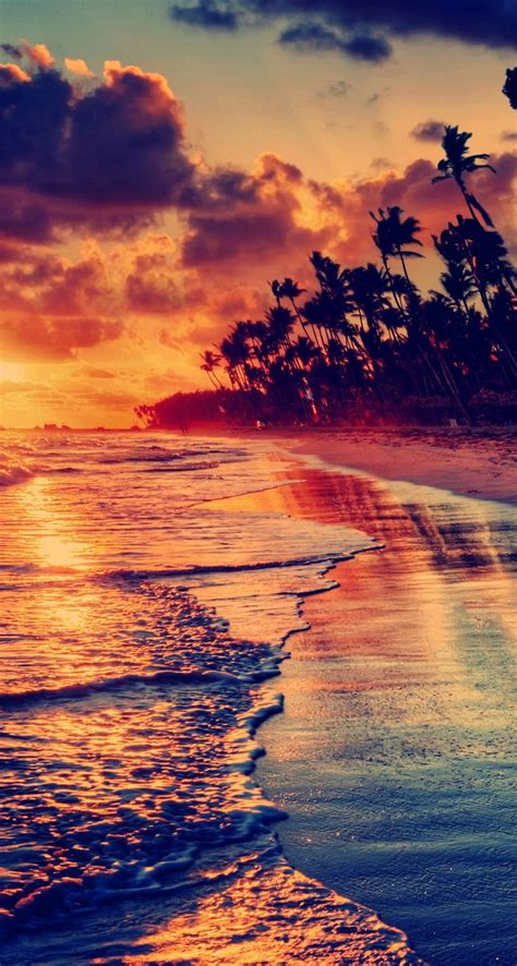 sunset beach iphone  parallax wallpaper ilikewallpaper