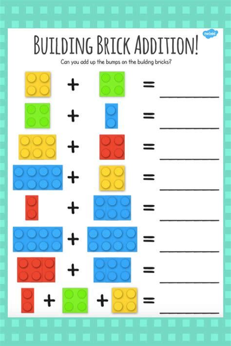 lego addition activity for engaging