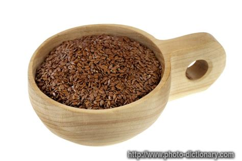 Definition Of Flaxen by Flax Seeds Photo Picture Definition At Photo Dictionary