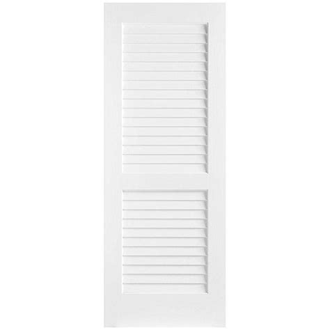 home depot interior doors prehung masonite 30 in x 80 in plantation smooth louver