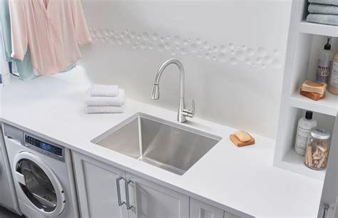 blanco kitchen faucets blanco quatrus dual mount laundry sink blanco
