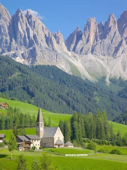 Church Val Di Funes Bolzano Province Trentino Alto