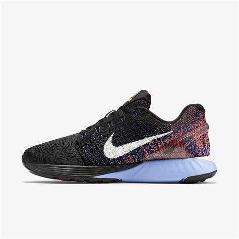 nike womens lunarglide  running shoes blackblueorange tennisnutscom