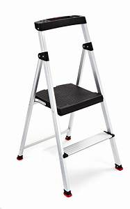 Rubbermaid, Rma-2, 2-step, Lightweight, Aluminum, Step, Stool, With, Project, Top, Stepladders