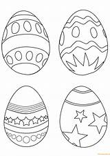 Easter Coloring Egg Eggs Pages Simple Colouring Printable Print Ostereier Supercoloring Drawing Paques Easy Arts Ausmalbilder Line Coloriage Sheets Imprimer sketch template