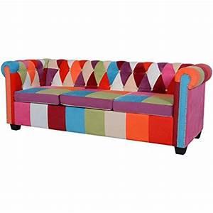 Chesterfield Sofa 4 Sitzer : vidaxl chesterfield sofa 3 sitzer loungesofa couch stoffsofa polstersofa design m bel24 xxl ~ Bigdaddyawards.com Haus und Dekorationen