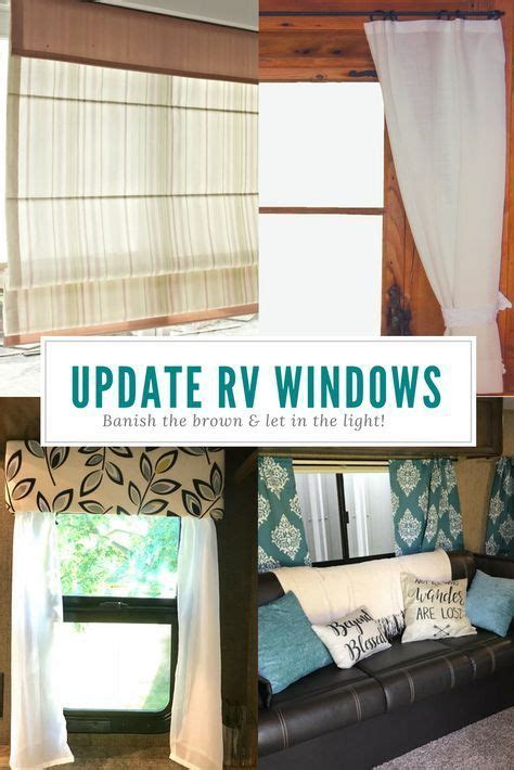 rv remodel updating  rv window treatments camper