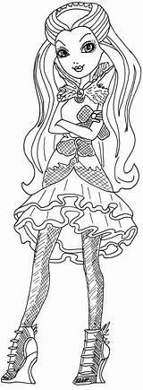 Raven Coloring Queen Ever Sheet Dolls Printable Evil sketch template