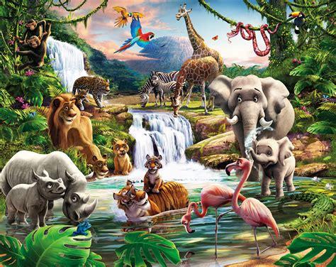 Kinderzimmer Gestalten Afrika by Fototapete Kinderzimmer Wandbild Dschungel Tiere Afrika