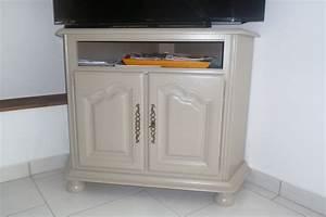 Meuble Repeint En Gris Perle : peinture et patine sur meubles ~ Dailycaller-alerts.com Idées de Décoration