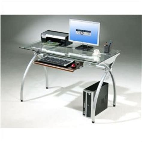 Techni Mobili Glass And Metal Computer Desk techni mobili glass and metal computer desk