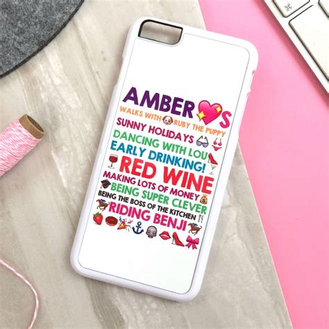personalised iphone cover with emoticons by pickle pie