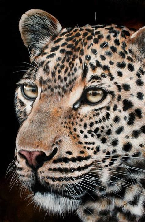 realistic tiger  leopard paintings fine art blogger
