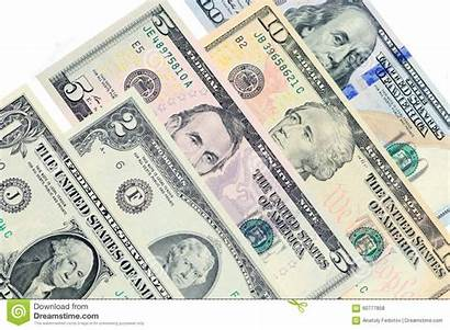 Dollars Another Banknotes Lie Various Usd
